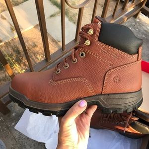 WOLVERINE AUTHENTIC WORK steel toe BOOTS sz 9,9.5